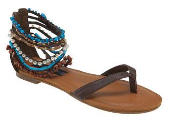 2 Flats sandals with blue