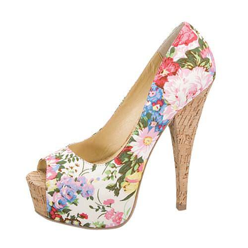 Floral Heels white 1