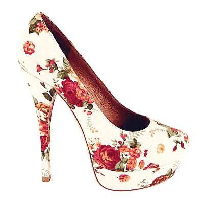 Floral Heels white 2