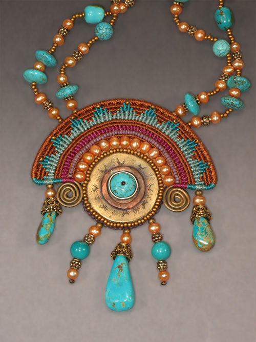 Necklace Aztec Sun