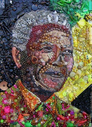 Nelson Mandela buttona art