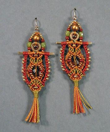 Patrizia earrings gold & olive