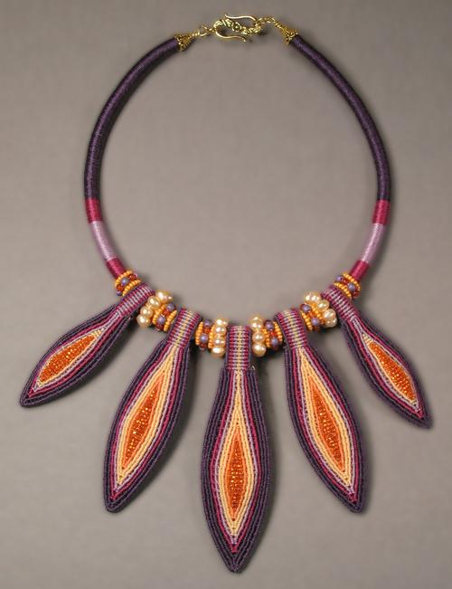 Purple Pods Necklace