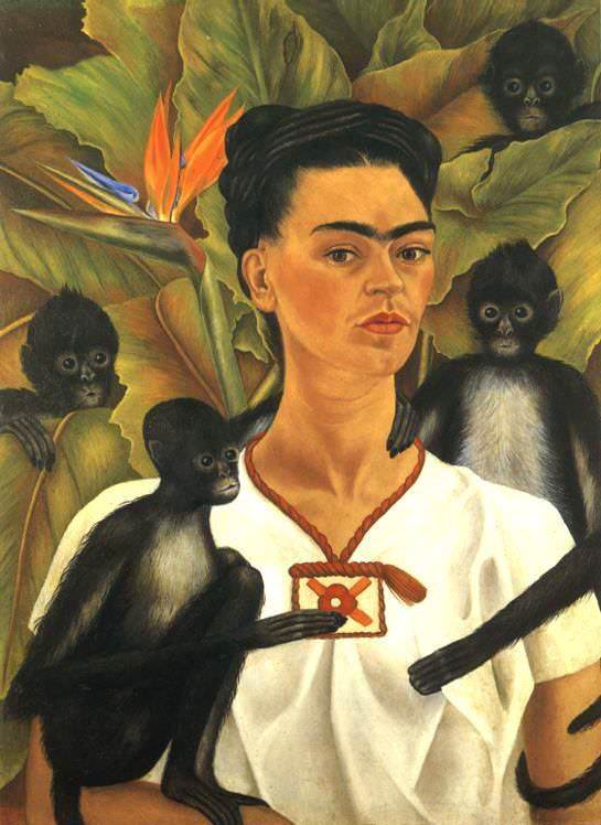 Self-portrait with Monkeys – 1943