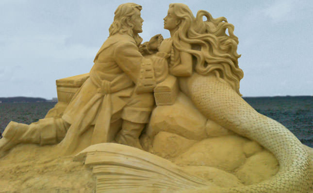 The Little Mermaid, Sand Sculpture by Sandsculpt USA