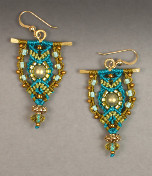 Tradewinds earrings in blues and greens