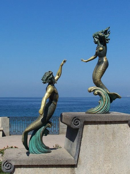 Triton and Nereida on the Malecón of Puerto Vallarta, 1990