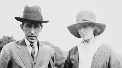 Virginia Woolf with her husband Leonard Woolf.