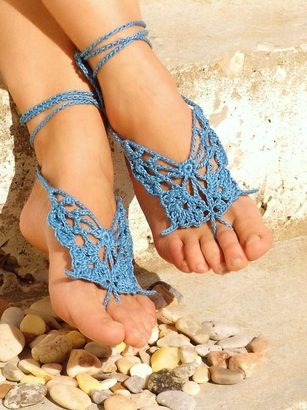 knited blue