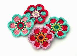 knited flowers