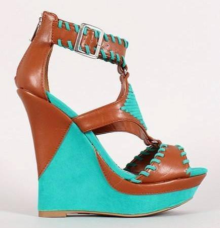 platform sandals green