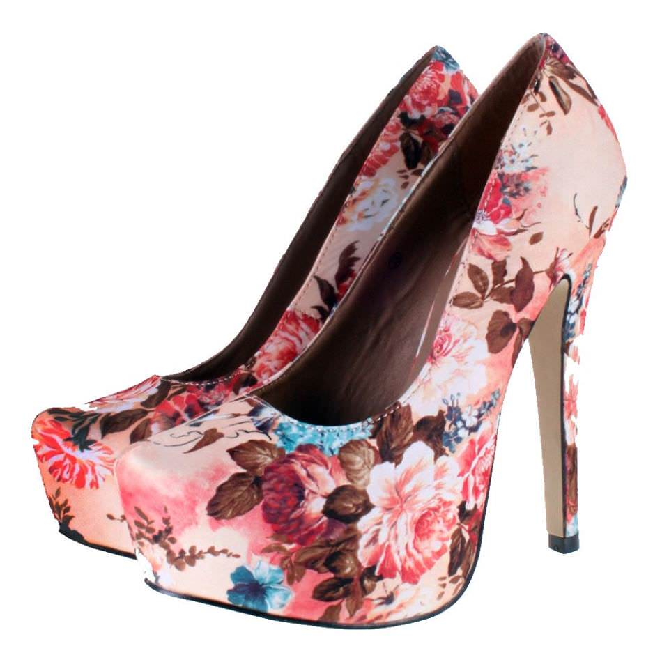 various colors floral heels 2