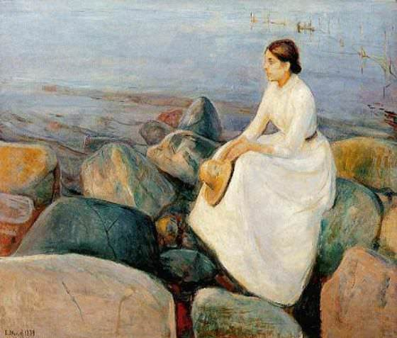 Summer Nights (Inger of shore), Edvard Munch
