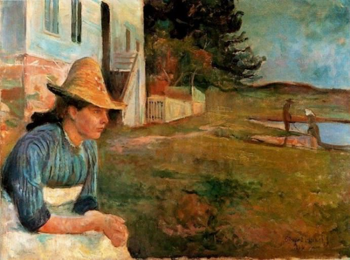 Sunset, Laura, the sister of artist Edvard Munch