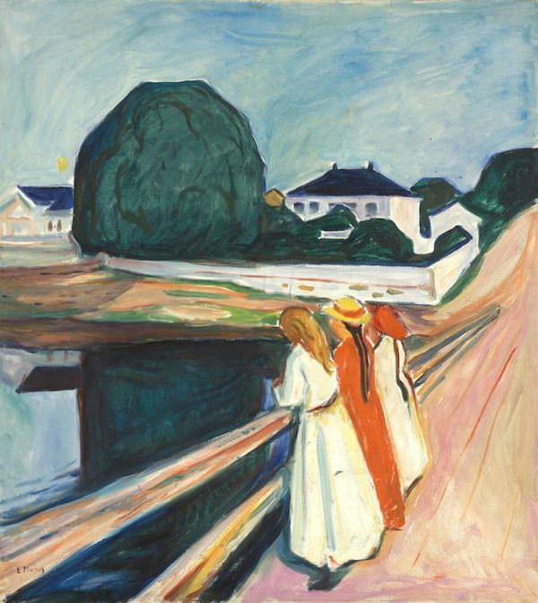 The girls on the bridge, Edvard Munch