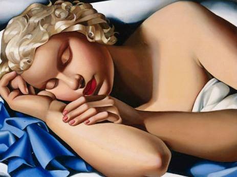 The sleeping girl kizette, 1933