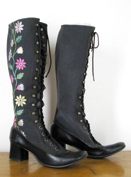 go go boots with flowers 2