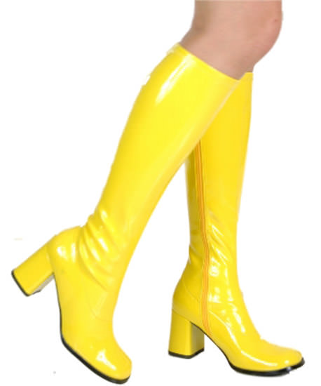 go go boots yellow