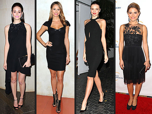litle black dress on the red carpet