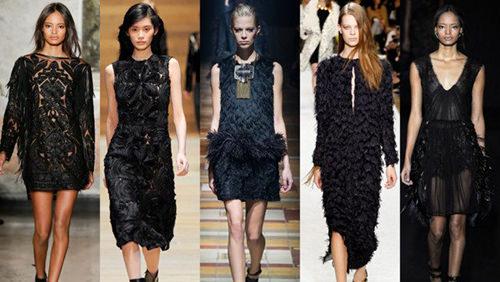 litle black dress on the runway