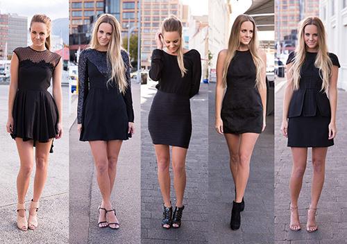 litle black dress street style