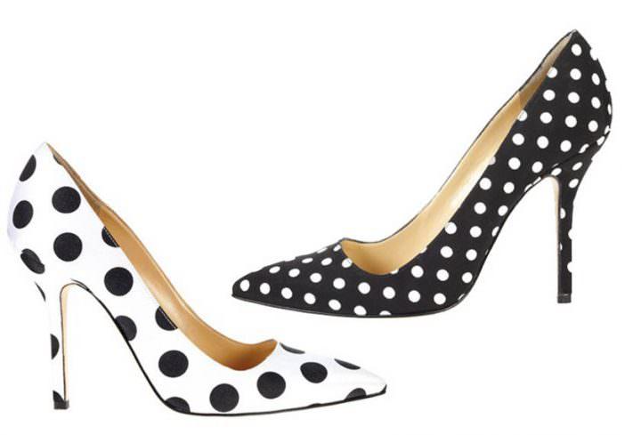 Oscar de la Renta 'Mimi' polka dot pumps
