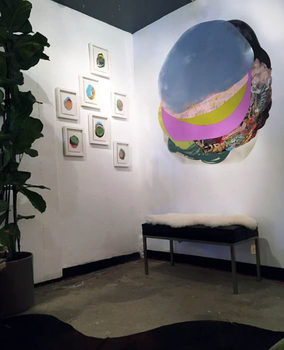 "Installation shot from ""XOCHI SOLIS @ SHOPCLASS"", June 13 – July 4, 2015"