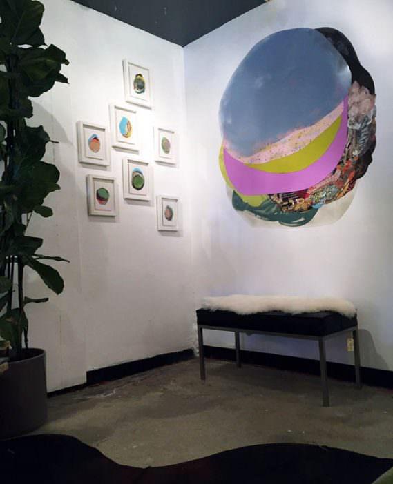 """Installation shot from """"XOCHI SOLIS @ SHOPCLASS"""", June 13 – July 4, 2015"""