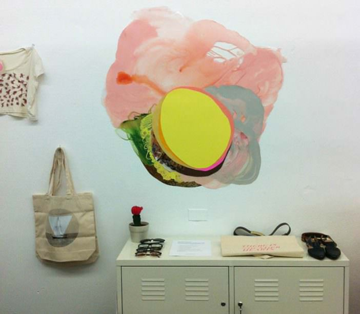 "Installation shot from ""Xochi Solis: New Works"" exhibition, September 8 - October 18, 2012 Olive Vintage - Austin, TX"