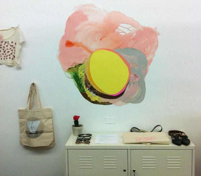"Installation shot from ""Xochi Solis: New Works"" exhibition, September 8 - October 18, 2012 Olive Vintage - Austin, TX"