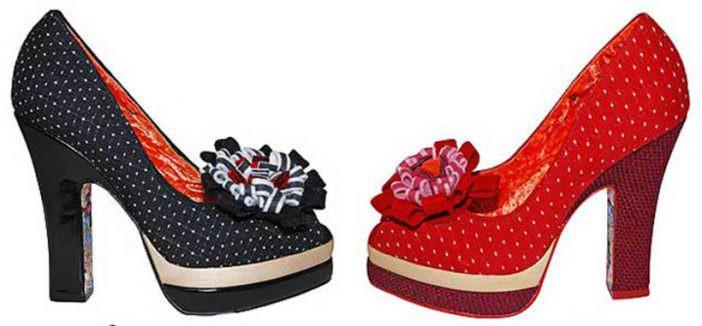 Irregular Choice Polka dot shoes
