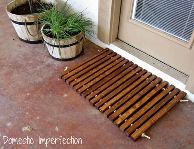 wood floor mat