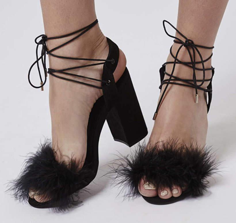 13 Pom Pom elegant sandals