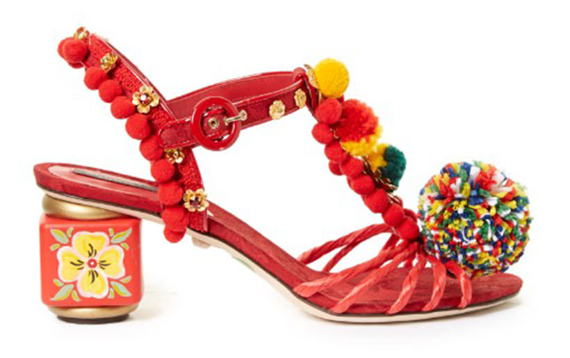 19 Dolce and Gabbana Pom Pom sandals