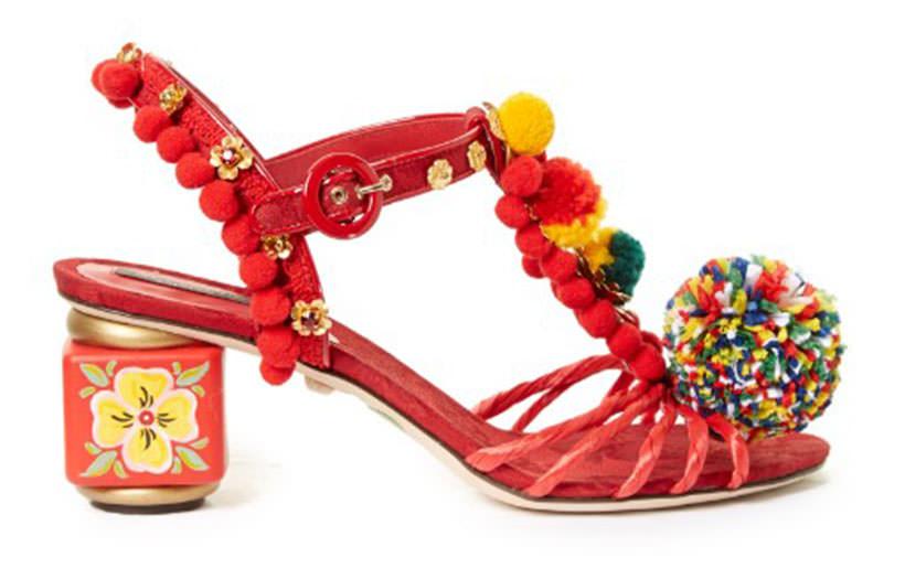19 Dolce and Gabbana Pom Pom sandals