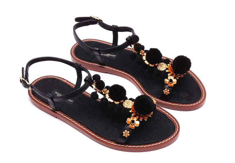 2 Pom Pom Sandals one color