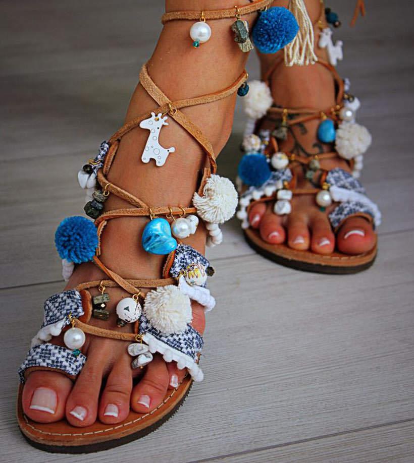 5 Pom Pom Sandals see color