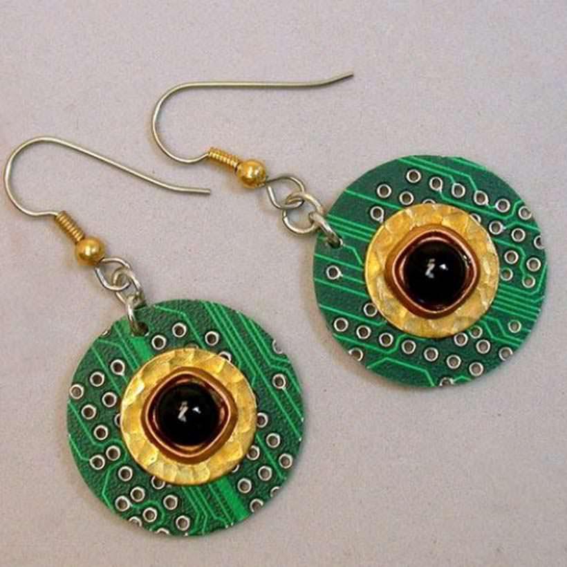 Recycled earrings 3