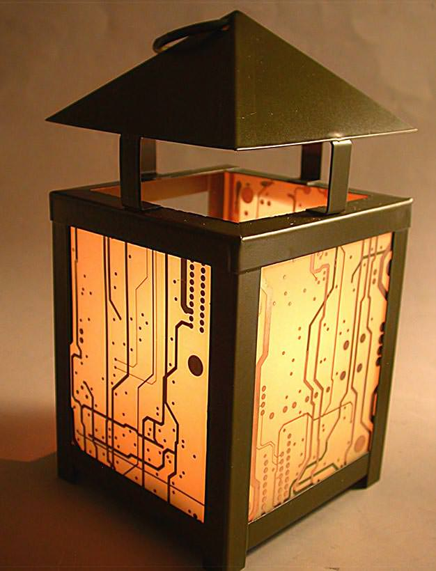 RecycledCircuit Board Lantern 9