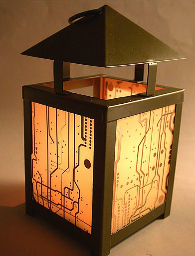 RecycledCircuit Board Lantern 9
