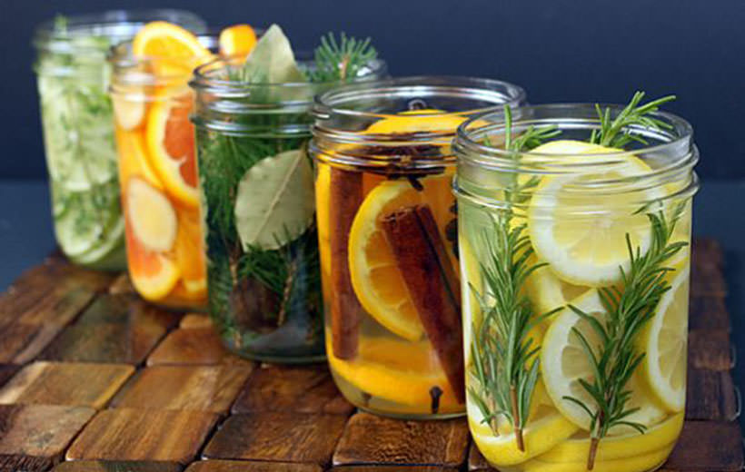 Lemon and rosemary simmer jar
