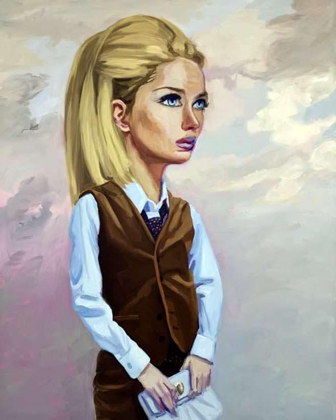 Girl in Brown Suit