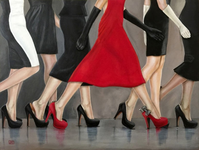She Wore Red Red Shoe series by Jacqui Faye, 2015