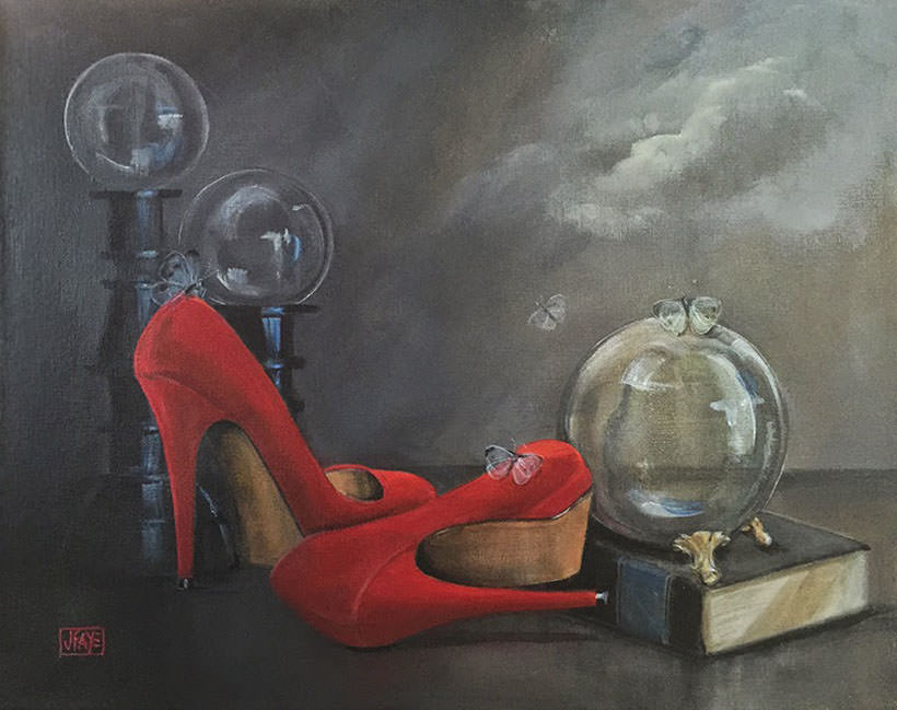 Dreamer Red Shoe series by Jacqui Faye, 2015