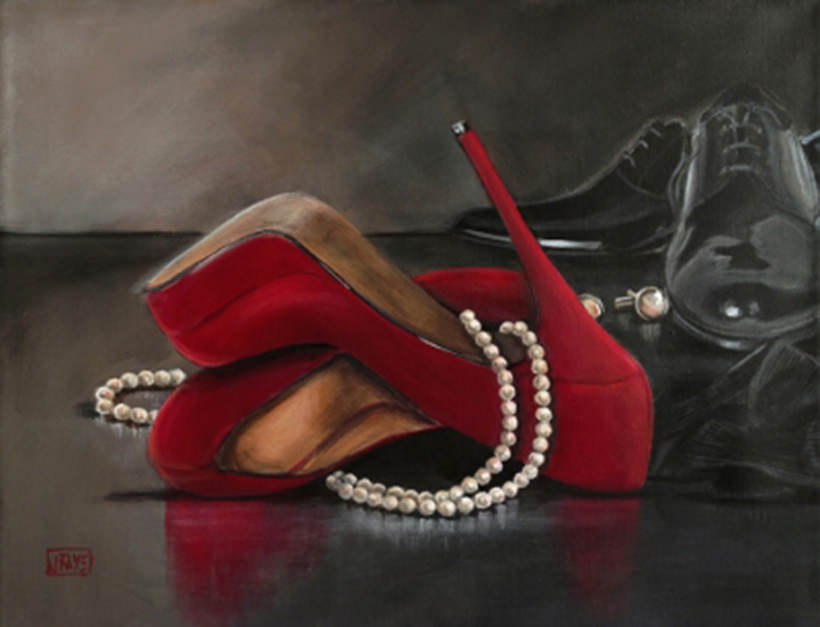 Some Enchanted Evening Red Shoe series by Jacqui Faye